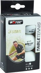 Míčky na stolní tenis V3TEC 3 Star Ball Table Tennis 6 ks