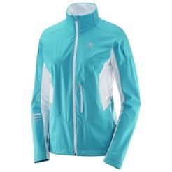 Dámská bunda Salomon Lightning Shell JKT W Blue Bird / White